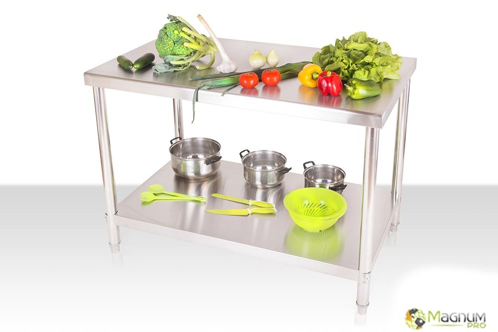 Zdjęcie całego stołu, Gastronomiczny stół roboczy 120 x 60, dostępny w magnum-pro.pl